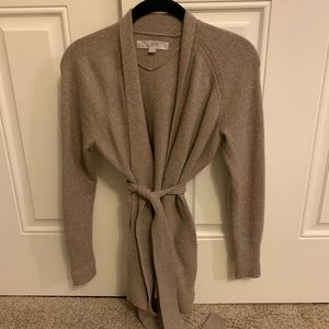 Loft belted cardigan sweater